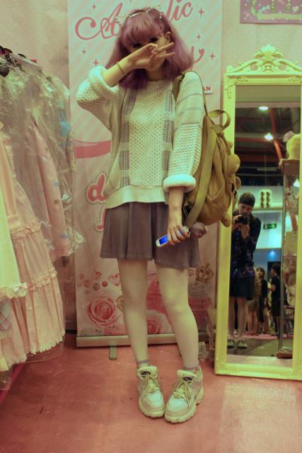 Hyper Japan Streetstyle #Katieeary #iridescent #buffalo