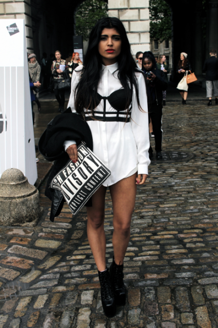 London Fashion Week Streetstyle #LFW