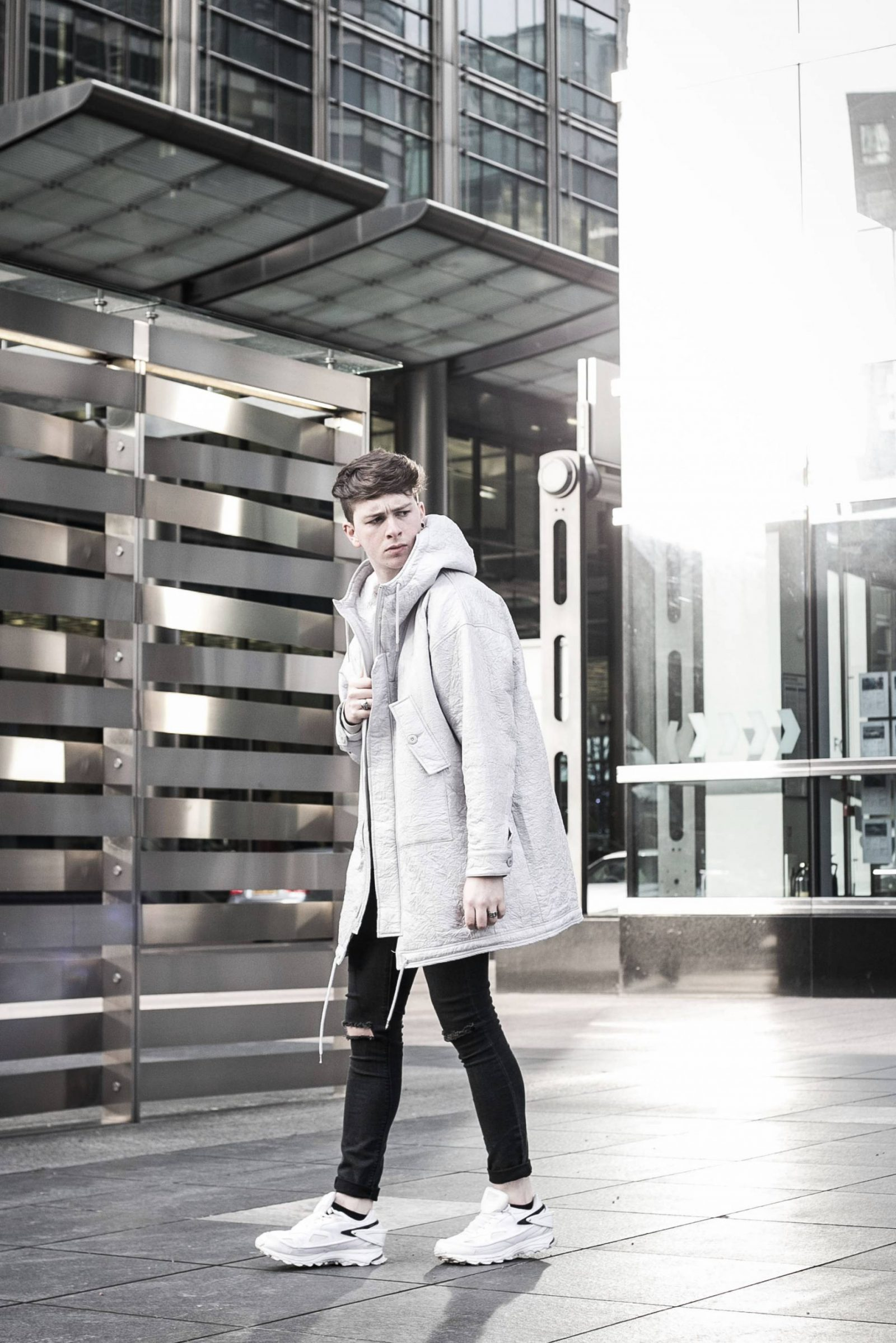 How to Style a White Coat