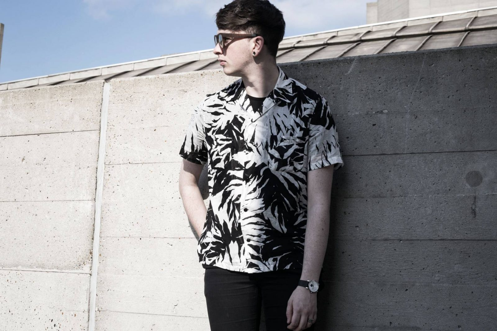 Saint Laurent Palm Print Shirt